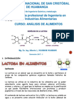 Analisis de Lactosa en Alimentos