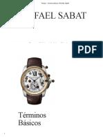 Relojes – Términos Básicos _ RAFAEL SABAT