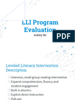lli program evaluation