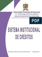 Sistema Institucional de Creditos