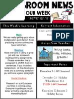 weekly newsletter  powerpoint  dec 1