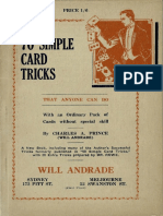 70 Simple Card Tricks That Anyone Can Do With an Ordinary Pack of Cards Without the Aid of Sleight-Of-hand