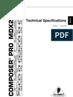 Mdx2200 b Specs