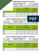 Ficha de Observación - Trabajo en Equipo - Individual 3