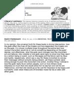 Jao Gamboa - Literary Luminary (Books 13-16)