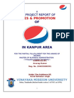 Sales & Promotion of Pepsi