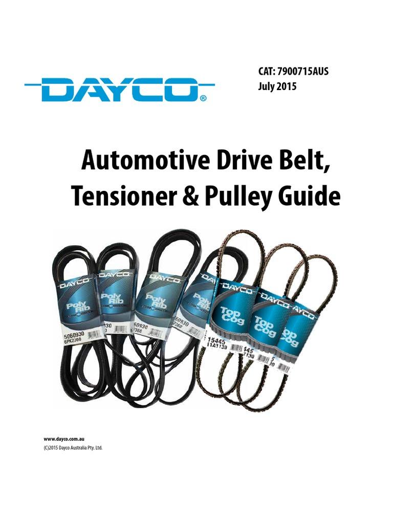 Dayco Drive Belt For BMW 3 Series E90 91 92 93 Alfa Romeo 147 156 GT