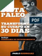 Dieta Paleolítica Transforme Su Cuerpo en 30 Días - Pablo Rodriguez