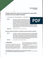 Analisis Quimico de Cianuro en El Proceso de Cianuración
