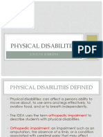 education- physical disabilities