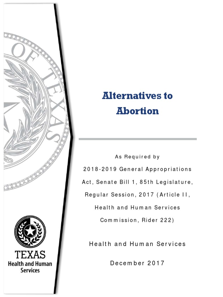 what are the alternatives to abortion