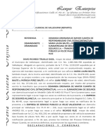 Ejercicio de Procesal Civil Especial-dda Civil Extracontractual