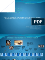 Lapsos y Términos Del Proceso Civil  Venezolano - Línea de tiempo