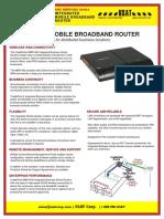 CradlePoint ARC MBR1400 Specsheet