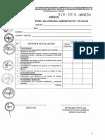 Ficha Evaluacion Desempeño Personal Administrativo