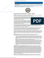 US Report on terrorism in Tunisia