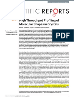 High Throughput Profiling of Molecular Shapes in Crystals