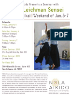 Glenn Leichman Sensei at NOLA Aikido January 2018 Flyer