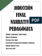 Producción Final Narrativa Pedagógica