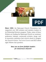 Episcopal Church Foundation Symposium