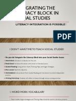 integrating the literacy block in social studies  1