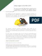 Ambiente de Trabajo Según La ISO 9001