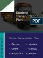 2018-19 Dallas ISD Student Transportation Plan
