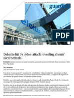 Deloitte Hit by Cyber-Attack Revealing Clients' Secret Emails _ Business _ the Guardian