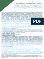 Contrato de Prestacion Del Servicio Publico de Telecomunicaciones Postpago
