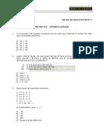 Taller de Ejercitacio¦ün 01 Aritme¦ütica - Nu¦ümeros Enteros.pdf