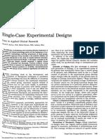 Barlow 1973 Single Case Experimental Design