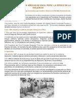 Terrorismo en Los Años 80 y 90 en El Perú