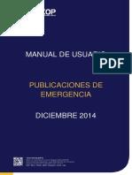 Publicaciones de Emergencia - Entidades Contratantes