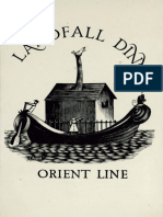 Orient Line Landfall Dinner, 6th April 1937