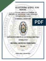 DERECHO TRIBUTARIO Bolivia Impuesto Directo A los Hidrocarburos.