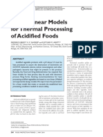 Breidt 2010 - Use of Linear Models for Thermal Processing of Acidified Foods