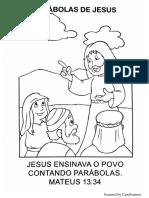 Jesus Ensinando Atraves de Parabolas