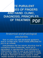 Acute Purulent Diseases of Fingers and Hand