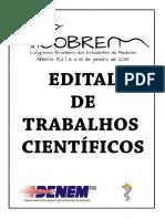 Edital Trabalhos - Cobrem Niterói 2018