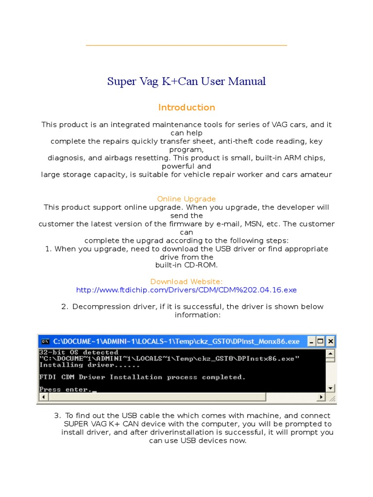 SUPER-VAG | Device Driver | Usb