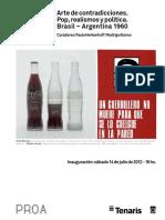 Fundacion PROA Arte de Contradicciones Pop Realismos y Politica Argentina 1960 1