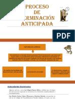 Proceso de Terminacion Anticipada
