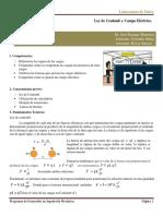 Laboratorio de Fisica. Práctica Nº6. Ley de Coulomb y Campo Eléctrico