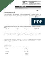 Guía 3 - Unidad Números Complejos - Representación, Módulo y Conjugado - Tercero Medio (1)