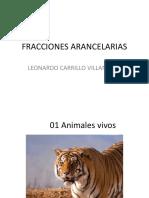 FRACCIONES ARANCELARIAS