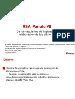 Higiene Parrafo VII RSA