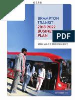 Brampton Transit 2018-2022 Business Plan