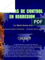 Conferencia de Control de Calidad Regresion