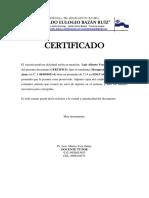 Certificado de Matricula 2014-2015