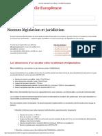 Normes, Législation Et Juridiction _ L'Echelle Européenne